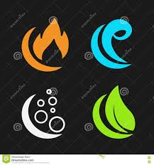 four elements air water earth nature symbols