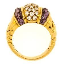 bvlgari vintage rings images Bvlgari amethyst diamond gold ring jpg