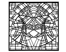 21 stained glass coloring pages images free