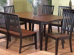 Dining Room Sets Black Kitchen Chairs Dark Brown Wooden Table With Carving Ornament