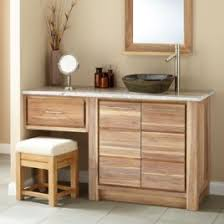 Bathroom Vanity Unfinished Small Single Unfinished Wood Bathroom Vanity With Makeup Table And