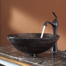 bathroom bowl modern bathroom sinks in brown with brass faucet