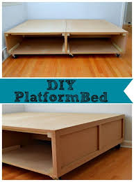 Diy Bed Platform 37 Platform Bed Diy With Storage White Wooden Bed With Many Diy