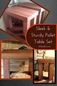 pallet table set beautiful coffee end table trio u2022 1001 pallets