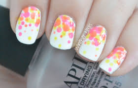 bright neon color nail art tutorial easy for beginners youtube