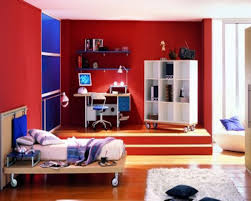 Painting Bedroom Doors by Bedroom Foxy Kid Teenage Blue And Red Bedroom Decoration Using
