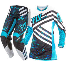 motocross gear set new fly racing 2018 ladies mx kinetic blue black womens motocross