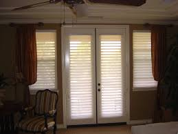 hunter douglas silhouette shades on french doors combined with