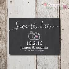 save the dates rustic save the date invites chalk invitation