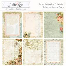 printable journal writing paper free printable shabby chic journal page ephemera s vintage free butterfly garden printable pocket journal cards jodie lee designs store checkout required