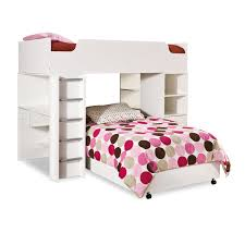 Modern LShaped Twin Over Twin Loft Bunk Bed With Desk - L shape bunk bed