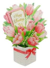 birthday flowers happy birthday flower bouquet tulip pop up greeting card ebay