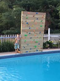 build your own climbing rock wall for your pool youtube