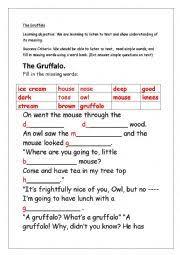 english worksheets gruffalo worksheets page 5