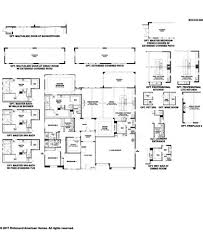 Richmond American Floor Plans Rocco Plan At Stirling Manor At Highland Hills In Las Vegas