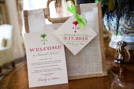 wedding welcome bag ideas destination wedding on kiawah island south carolina
