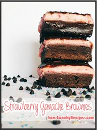 strawberry ganache brownies swanky recipes