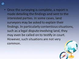 land survey report template powerpoint presentation on land surveying