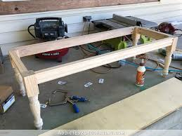diy upholstered dining room bench u2013 how to build the frame