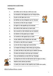 spanish comparisons worksheet super teacher worksheets