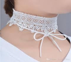 white lace necklace images 2018 white lace choker necklace women chockers boho flower gothic jpg