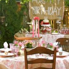 shabby chic princess outdoor party strawberry fields themed