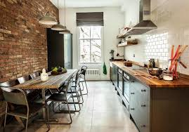 kitchen rustic brick kitchens with small freestanding island and