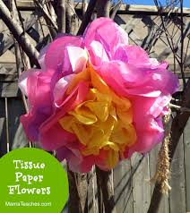 tissue paper flowers craft for kids mama teaches