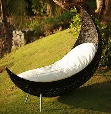patio wicker moon patio u003dlounge chair with white cushion in the