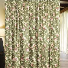 green unique vintage printing floral curtains length