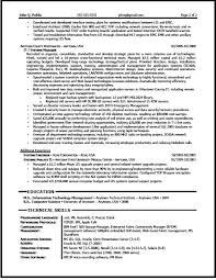 It Director Resume Examples by It Manager Resume Sample The Resume Clinic