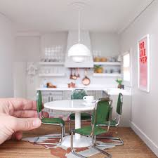 miniature dollhouse kitchen furniture modern dollhouse miniature kitchen dollhouse