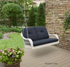wicker porch swings always refined reminiscent and romantic