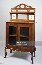 chippendale style teak sideboard with ceramic decorations colonial