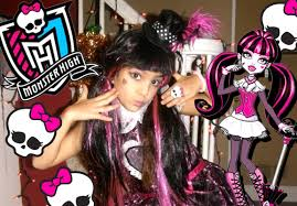 party city halloween costumes monster high monster high draculaura sweet 1600 costume makeover youtube
