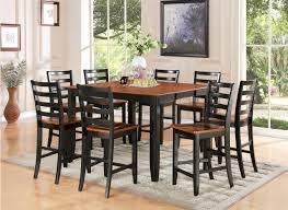 Square Dining Room Tables For 8 Simple Square Dining Table Seats 8 Painted With Black And Brown