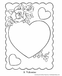 valentine u0027s cards coloring pages hearts roses valentine