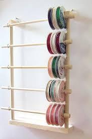 ribbon spools hanging ribbon holder storage rack organizer holds 80 spools