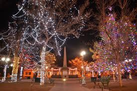 christmas tree lighting on the plaza