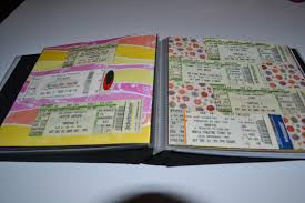 ticket stub album 9 ways to turn concert ticket stubs into something awesome