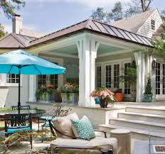 how to give a flat roof covered pergola some form with a beautiful