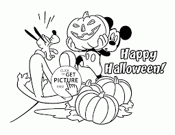 Free Halloween Coloring Page by Mickey And Friends Halloween Coloring Pages For Kids Disney