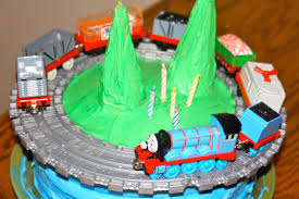 super simple train cake going jane
