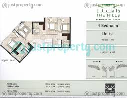 the hills penthouse collection floor plans justproperty com