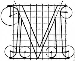 letter m from u201calphabet after serlio u201d