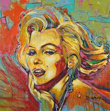Marilyn Monroe Art Marilyn Monroe Art Painting Print Canvas Painting By Damon Gray
