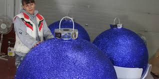 Extra Large Outdoor Christmas Decorations by Christmas Display Baubles Giant Medium And Small Manufactured