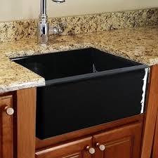 Black Single Bowl Kitchen Sink by Lexicon Platinum Quartz Composite 32x19 Inch Kitchen Sink With