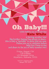 2nd baby shower ideas 2nd baby shower invitations baby shower invitation wording ideas