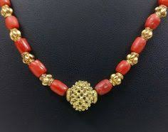 indian gold coral pearl chain necklace chains pearls and gold